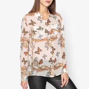 Рубашка из шелка с рисунком THE KOOPLES. Цвет: рисунок/экрю
