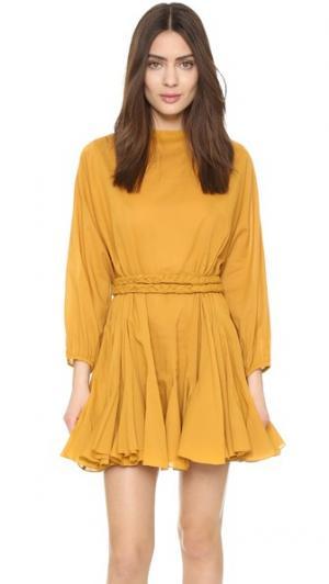 Платье Ella Rhode Resort. Цвет: канареечный