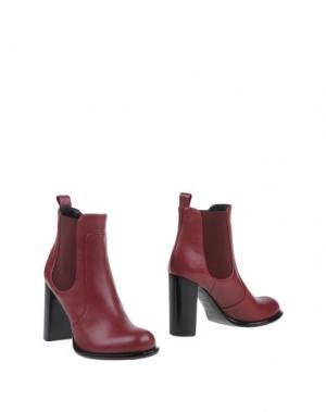 Полусапоги и высокие ботинки RODO. Цвет: красно-коричневый