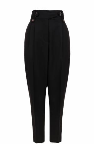 Укороченные шерстяные брюки-бананы 3.1 Phillip Lim. Цвет: черный
