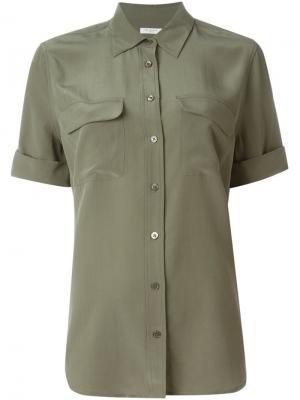 Рубашка с нагрудными карманами Equipment. Цвет: зелёный