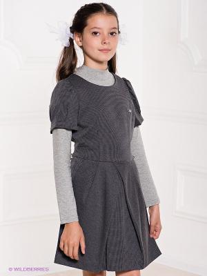 Платье SILVER SPOON. Цвет: темно-серый, черный