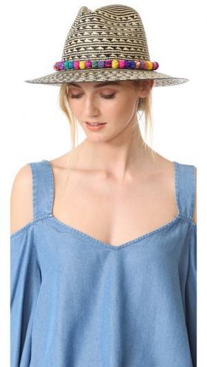 Шляпа Cartagena Valdez. Цвет: телесный/черный/мульти