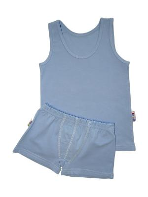 Комплект белья для мальчиков ABAI kids. Цвет: голубой