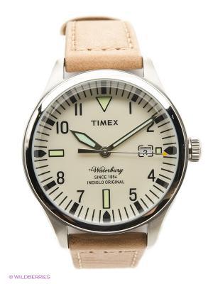 Часы TIMEX. Цвет: бежевый