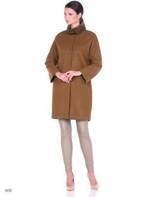 Пальто из кашемира SARTORI DODICI. Цвет: коричневый