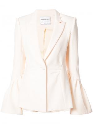 Пиджак с застежкой на пуговицу Prabal Gurung. Цвет: белый