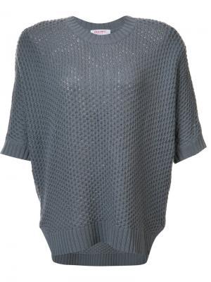 Блузка с короткими рукавами и круглым вырезом Organic By John Patrick. Цвет: серый