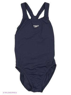 Слитный купальник Speedo. Цвет: темно-синий