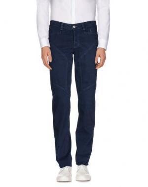 Повседневные брюки 9.2 BY CARLO CHIONNA. Цвет: темно-синий