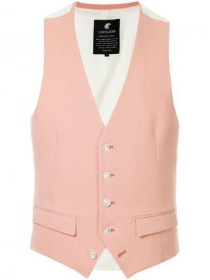 Классическая жилетка Loveless. Цвет: розовый и фиолетовый