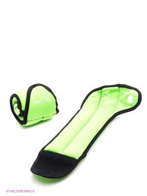 Утяжелители STAR FIT WT-201 для рук Эргономичные, 1 кг, зеленый/черный Starfit. Цвет: зеленый, черный