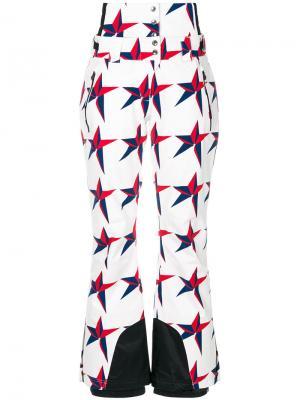 Брюки Chamonix с принтом со звездами Perfect Moment. Цвет: белый