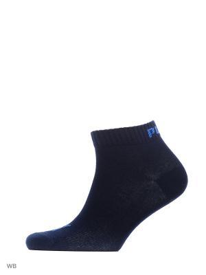 Носки PUMA UNISEX QUARTER PLAIN 3P. Цвет: темно-синий, лазурный, серый