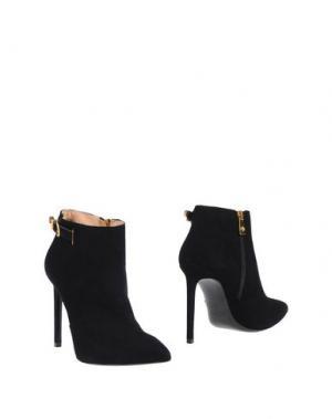 Полусапоги и высокие ботинки FIORANGELO. Цвет: черный