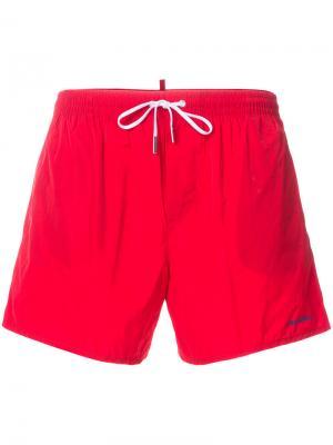 Пляжные шорты Dsquared2. Цвет: красный