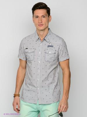 Рубашка Mezaguz. Цвет: серый, белый