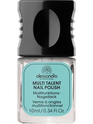 Универсальное средство для ногтей 9 в 1 Multi talent nail polish alessandro. Цвет: прозрачный