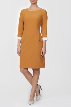 Платье Lady Morgana. Цвет: горчичный