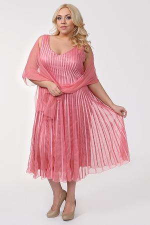 Платье Lia Mara. Цвет: розовый