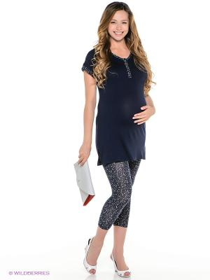 Домашний комплект для беременных ФЭСТ. Цвет: темно-синий