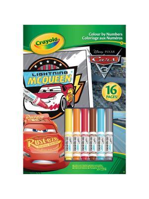 Раскраска по номерам  Тачки 3 Crayola. Цвет: зеленый