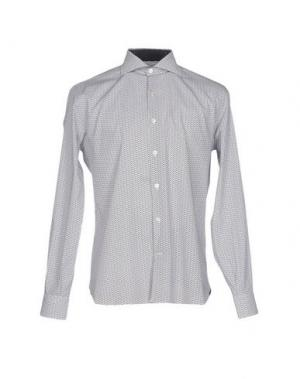 Pубашка DOMENICO TAGLIENTE. Цвет: светло-серый