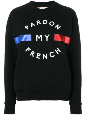 Pardon My French sweatshirt Être Cécile. Цвет: чёрный
