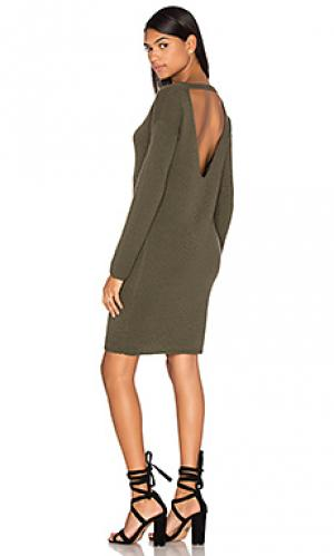 Вязаное платье из кашемира daniella 360 Sweater. Цвет: оливковый