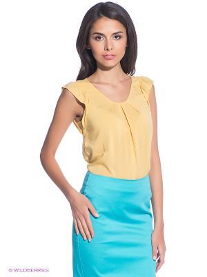Блузка Oodji. Цвет: желтый