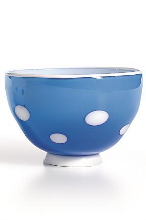 Чаша-салатник Zafferano. Цвет: аквамарин, белый