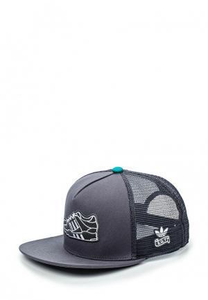 Бейсболка adidas Originals. Цвет: серый