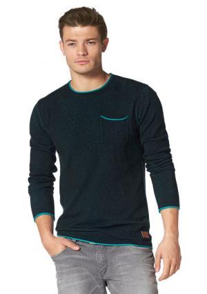 Пуловер JOHN DEVIN. Цвет: красный/светло-серый меланжевый