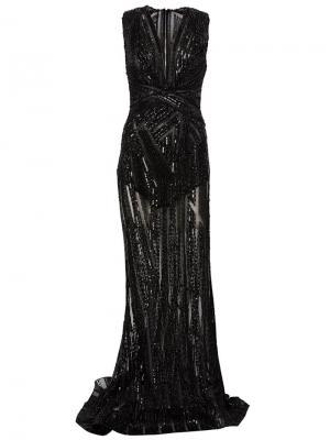 Декорированное вечернее платье Zuhair Murad. Цвет: чёрный