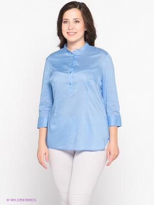 Блузка Oodji. Цвет: голубой