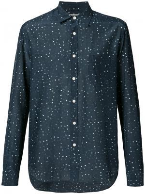 Рубашка с узором Vince. Цвет: синий