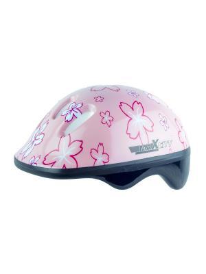 Роликовый шлем BABYFLOWER MAXCITY. Цвет: розовый