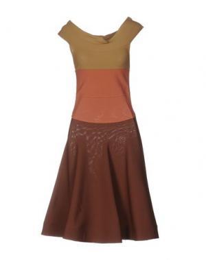 Платье до колена ANTONINO VALENTI. Цвет: какао