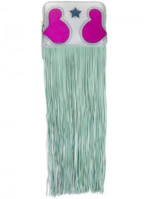 Клатч с бахромой The Volon. Цвет: многоцветный