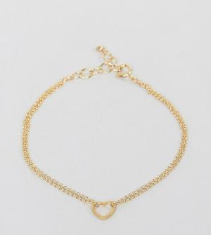Dogeared Позолоченный браслет с подвеской. Цвет: золотой