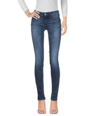 Джинсовые брюки REBEL QUEEN. Цвет: синий
