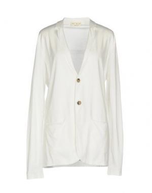 Пиджак MA'RY'YA. Цвет: белый