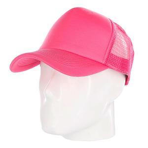 Бейсболка с сеткой  Basic Trucker Pink TrueSpin. Цвет: розовый