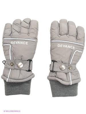 Перчатки Devance. Цвет: серый, темно-серый