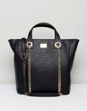 Marc B Большая сумка-тоут. Цвет: черный