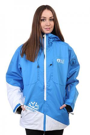 Куртка женская  Alaska Jacket Blue Picture Organic. Цвет: голубой,белый