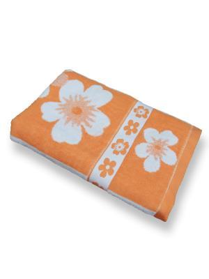 Полотенце махровое ZLATA KORUNKA. Цвет: оранжевый