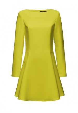 Платье Alex Lu. Цвет: желтый
