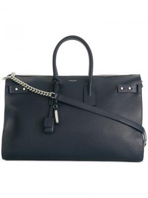 Большая сумка Sac de Jour Saint Laurent. Цвет: синий