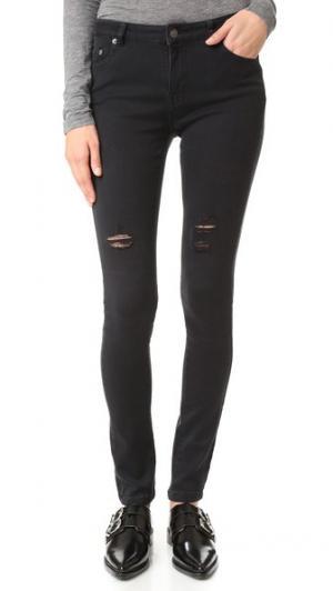 Рваные джинсы-скинни The Kooples. Цвет: темно-серый